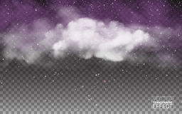 White vector cloudiness mist or smog background. Fog or smoke transparent special effect. Vector illustration