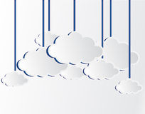 White vector clouds Stock Images