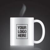 White vector coffee mug Stock Image
