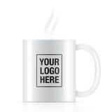 White vector coffee mug royalty free illustration