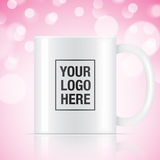 White vector coffee mug Royalty Free Stock Images