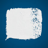 White vector grunge paint spot on blue background Royalty Free Stock Photos