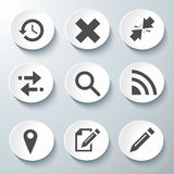 White Vector Icons Set. Beautiful Icons Set Vector white illustration Stock Images