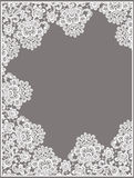 White Vector Lace. Rectangle Frame. Stock Photography