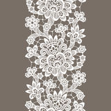 White Vector Lace. Vertical Seamless Pattern. Royalty Free Stock Image