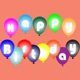 Color celebration birthday ballons background anniversary vector illustration
