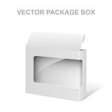 White Vector Product Package Box With Window. Isolated on white Royalty Free Stock Image
