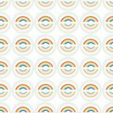 White pattern with rainbow and circle. stock illustration