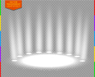 White vector spotlight scene light effect (transparency in additional format only) Royalty Free Stock Image