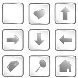 White vector square web button Royalty Free Stock Photos