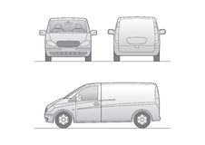 White vector van Royalty Free Stock Photos