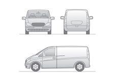 White vector van. For branding Royalty Free Stock Photos