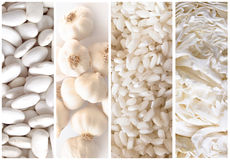 White vegetables Royalty Free Stock Images