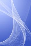 White veil on a blue background. This picture you can use as a beautiful background royalty free illustration
