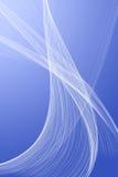 White veil on a blue background Stock Photo