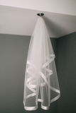 White veil of the bride Stock Photography