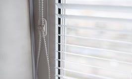 White venetian blinds. Royalty Free Stock Images