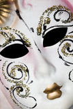 White Venetian mask with patterns Stock Photo