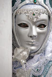White Venice Mask, Carnival. Stock Photography