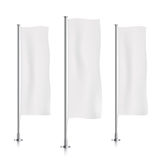 White vertical banner flag templates. Stock Photography