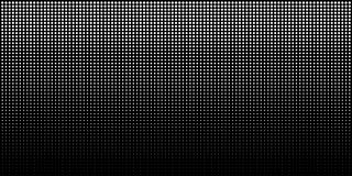 White vertical gradient halftone dots background, horizontal template using halftone dots pattern. Vector illustration Stock Photos
