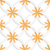 White vertical pointy squares with orange layering seamless Stock Photos