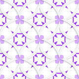 White vertical pointy squares with purple layering seamless Royalty Free Stock Photo