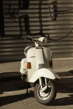 White vespa Royalty Free Stock Images