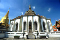 The white vihara in the Wat Pra Kaeo Stock Images