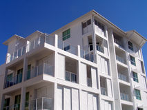 White Villa. On blue sky in the tropes Royalty Free Stock Photo