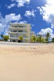 White Villa on a Tropical Caribbean Island stock photography