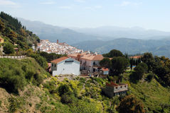 White village, Algatocin, Spain. Royalty Free Stock Photo