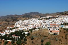White village, Almogia, Andalusia, Spain. View of the town and surrounding countryside, Almogia, Costa del Sol, Malaga Province, Andalusia, Spain, Western Stock Images