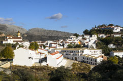White village in Andalusia, Spain Royalty Free Stock Image