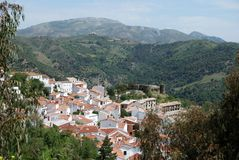 White village, Benadalid, Spain. Royalty Free Stock Photo
