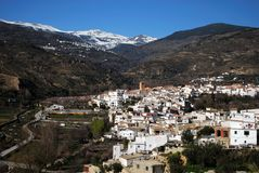 White village, Cadiar, Spain. Royalty Free Stock Photography