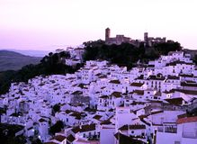White village, Casares, Spain. Royalty Free Stock Photography