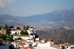 White village, Comares, Spain. Stock Photos
