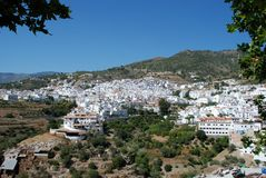 White village, Competa, Spain. Royalty Free Stock Image