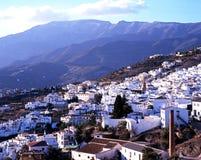 White village, Competa, Spain. Stock Image
