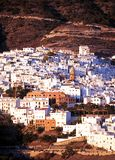 White village, Competa, Spain. Stock Photo