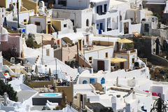White village of Fira in Santorini Stock Image