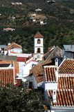 White village, Guaro, Spain. Royalty Free Stock Photography