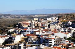 White village, Loja, Andalusia, Spain. Royalty Free Stock Photography