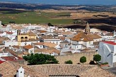 White village, Medina Sidonia, Andalusia. View of white village and surrounding countryside, Medina Sidonia, Cadiz Province, Andalusia, Spain, Western Europe Royalty Free Stock Photos