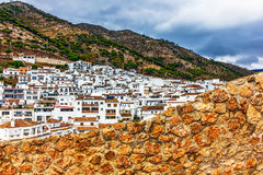 White village Mijas in Malaga Stock Photography