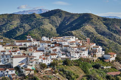 White Village of Moclinejo in Malaga, Spain. Moclinejo is a town and municipality in the province of Málaga, part of the autonomous community of Andalusia in stock images