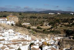 White village in the mountains Stock Photography
