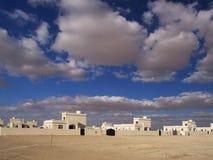 White village in Muqshin. New urban development in Muqshin, Dhofar region, Oman Royalty Free Stock Image