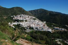 White village, Ojen, Spain. Royalty Free Stock Photography